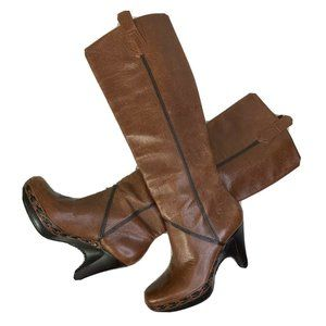 Cole Haan Brown Leather Knee Riding Boots Sz 5